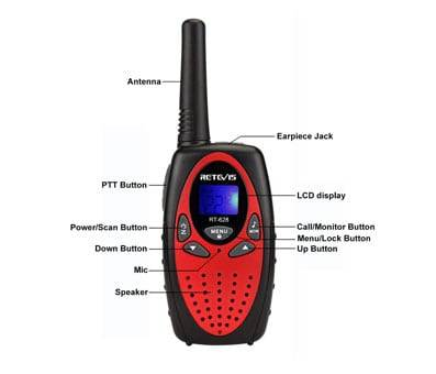 Product image of Retevis RT628 Kids Walkie Talkies 22 Channel