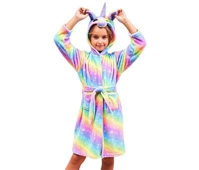 Product image of Soft Unicorn Hooded Bathrobe