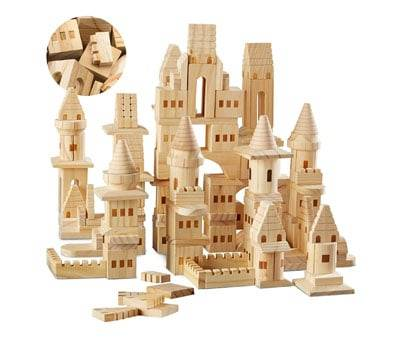 Product image of Wooden Castle Building Blocks Set (150 Piece Set)