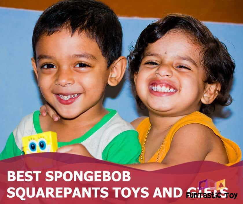 Featured image of smiling boy and girl with small spongebob toy