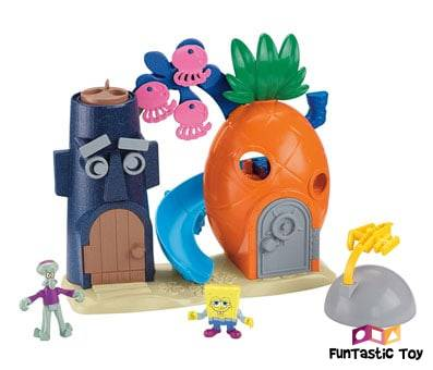 Product image of Fisher-Price Imaginext Spongebob Bikini Bottom Playset