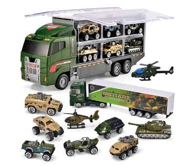 Product image of JOYIN 10 in 1 Die-cast Military Truck