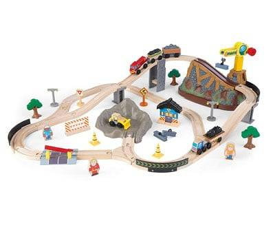Product image of KidKraft Bucket Top Construction Train Set