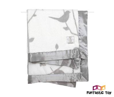 Product image of Little Giraffe Luxe Birdsong Baby Blanket