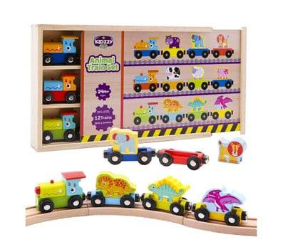 Product image of Magnetic Trains by Kidzzy Toys