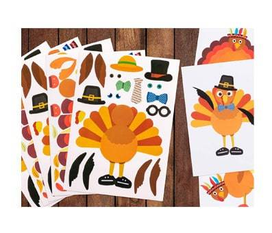 Product image of Make-A-Turkey Stickers