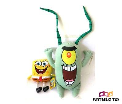 Product image of Spongebob & Plankton Soft Plush