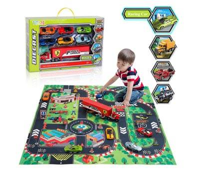 Product image of TEMI Diecast Racing Cars Toy Set