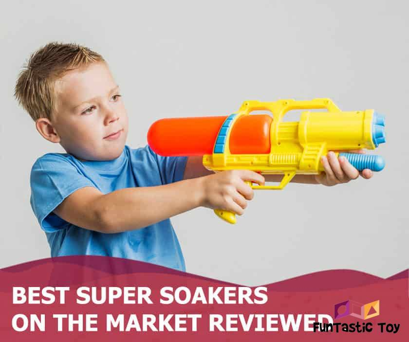 Featured image of blonde boy holding water gun
