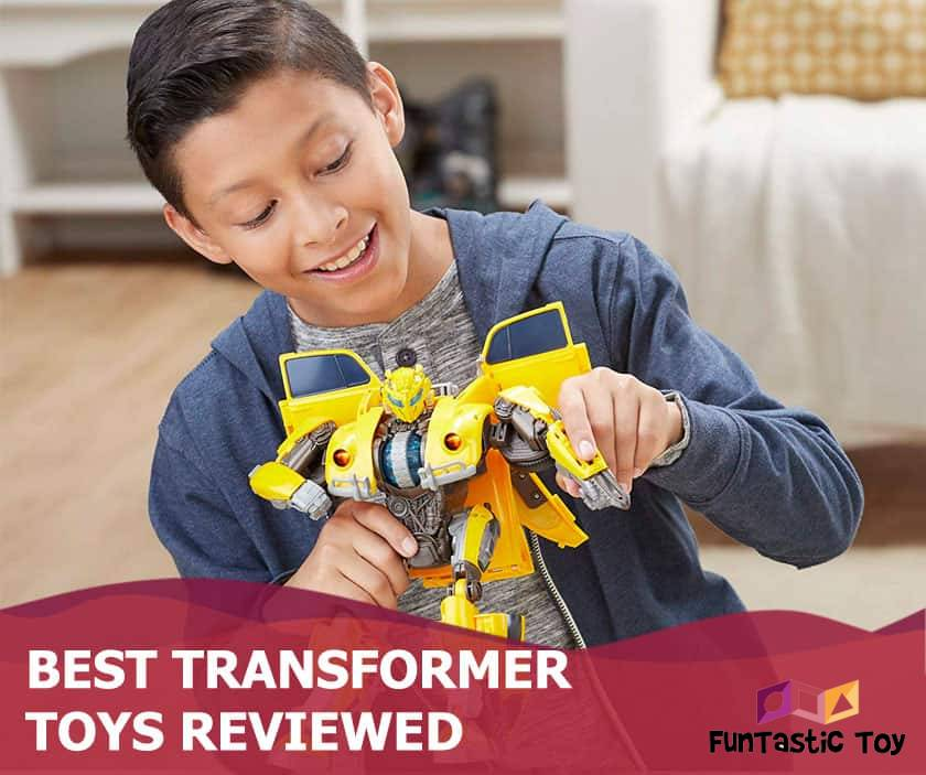 Featured image of smiling boy playing with bumblebee toy