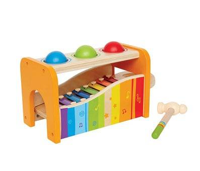 Product image of Hape Pound & Tap Bench with Slide Out Xylophone