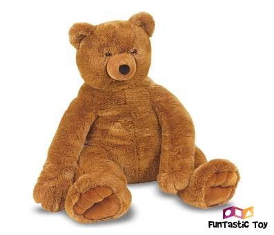 Product image of Melissa & Doug Jumbo Brown Teddy Bear