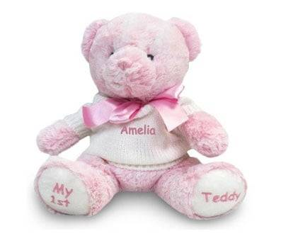 Product image of Personalized Teddy Bear for Baby Girls