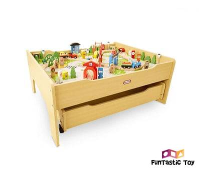 Product image of Little Tikes Real Wooden Train Table